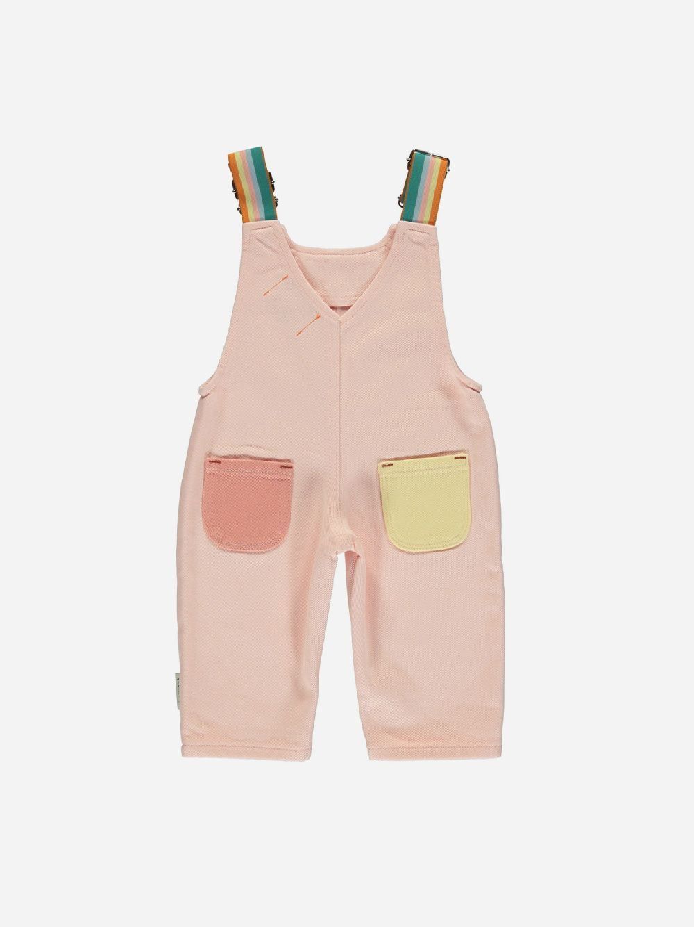 Baby Multicolor Dungarees with Elastic Straps