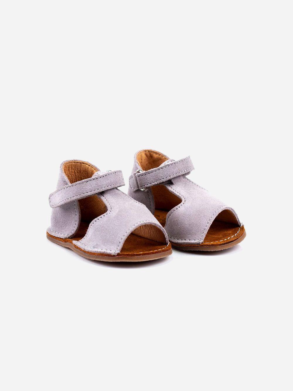 Sandália Cinza Velcro | Pikitri