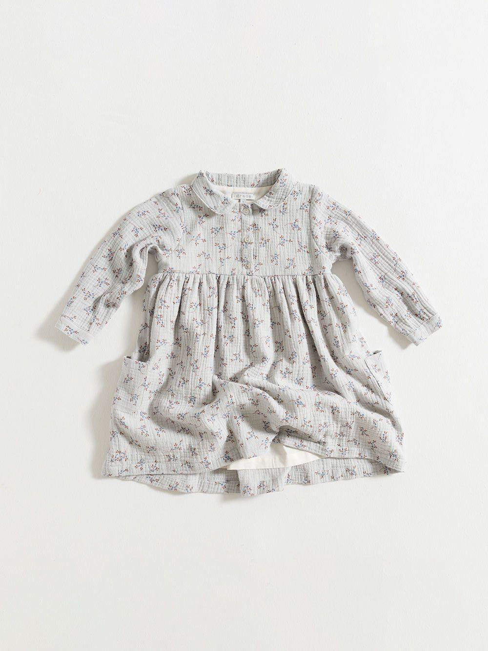 DRESS / BLUE FLOWERS GAUZE | Grace Baby and Child