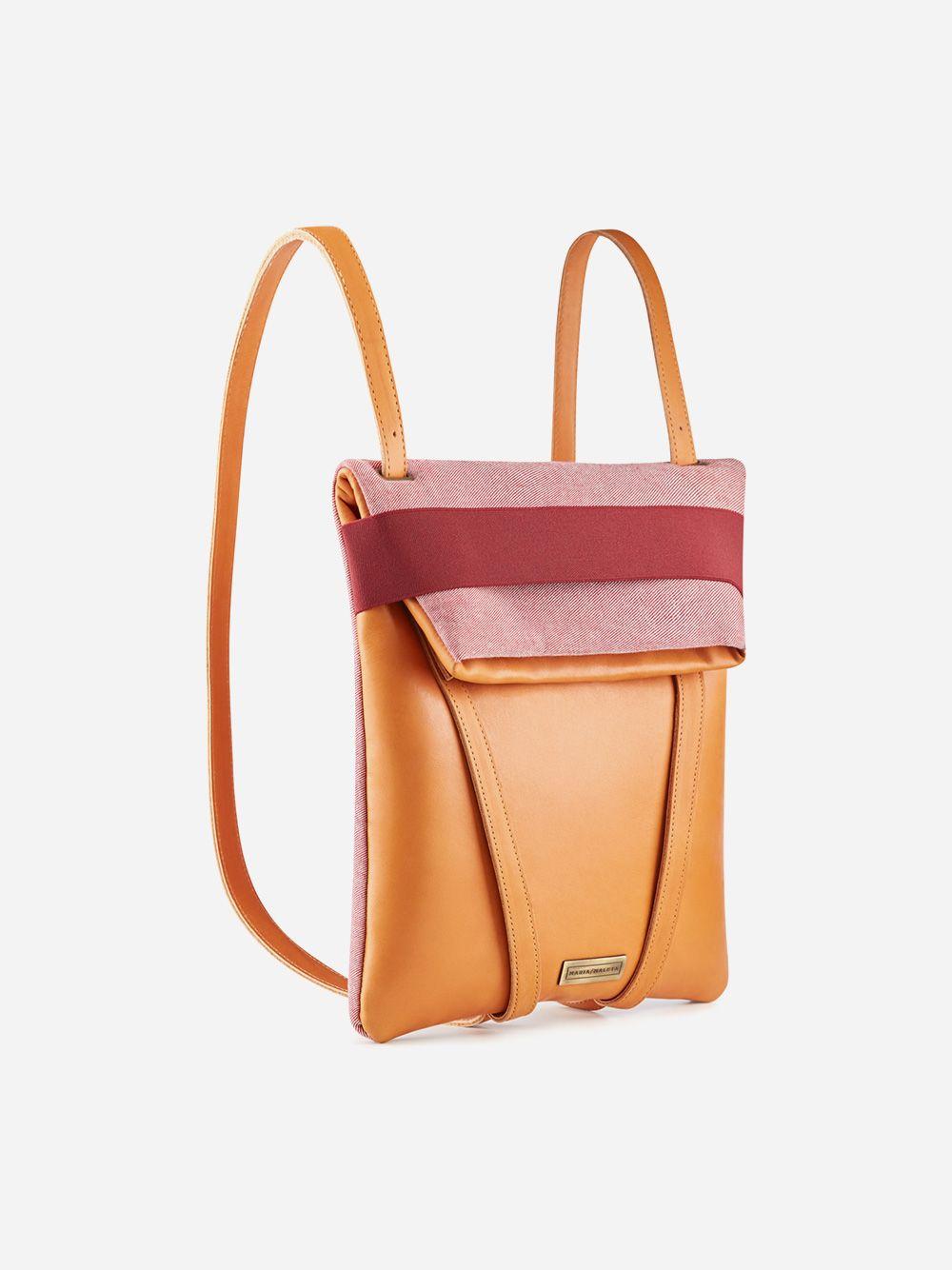 Camel and Pink Gentle Backpack | Maria Maleta