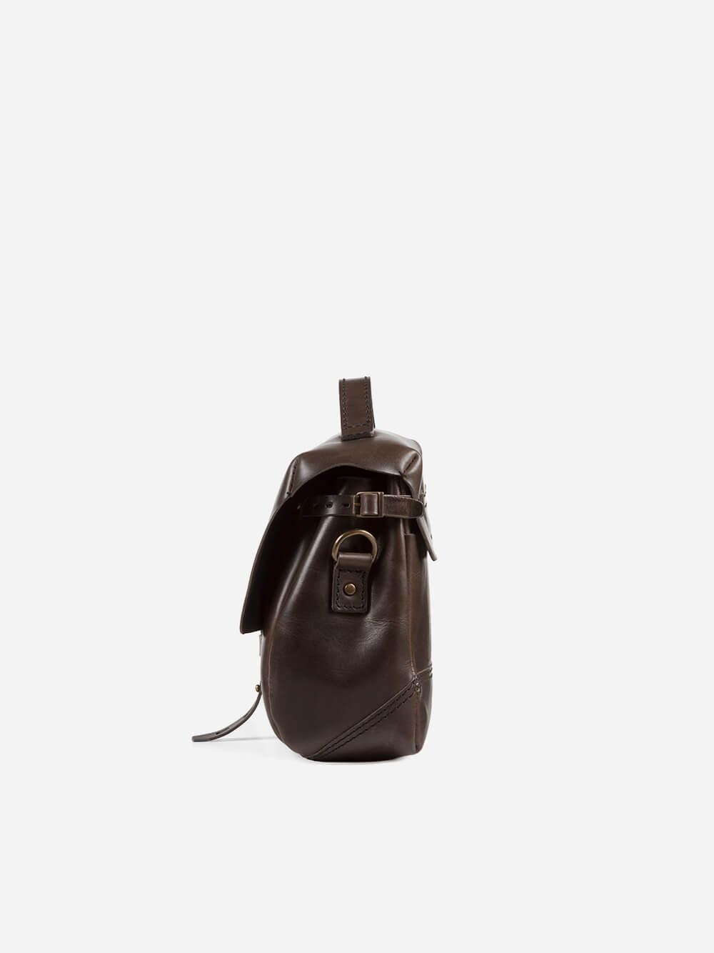 Dark Brown Junqueira Messenger | Ideal & Co