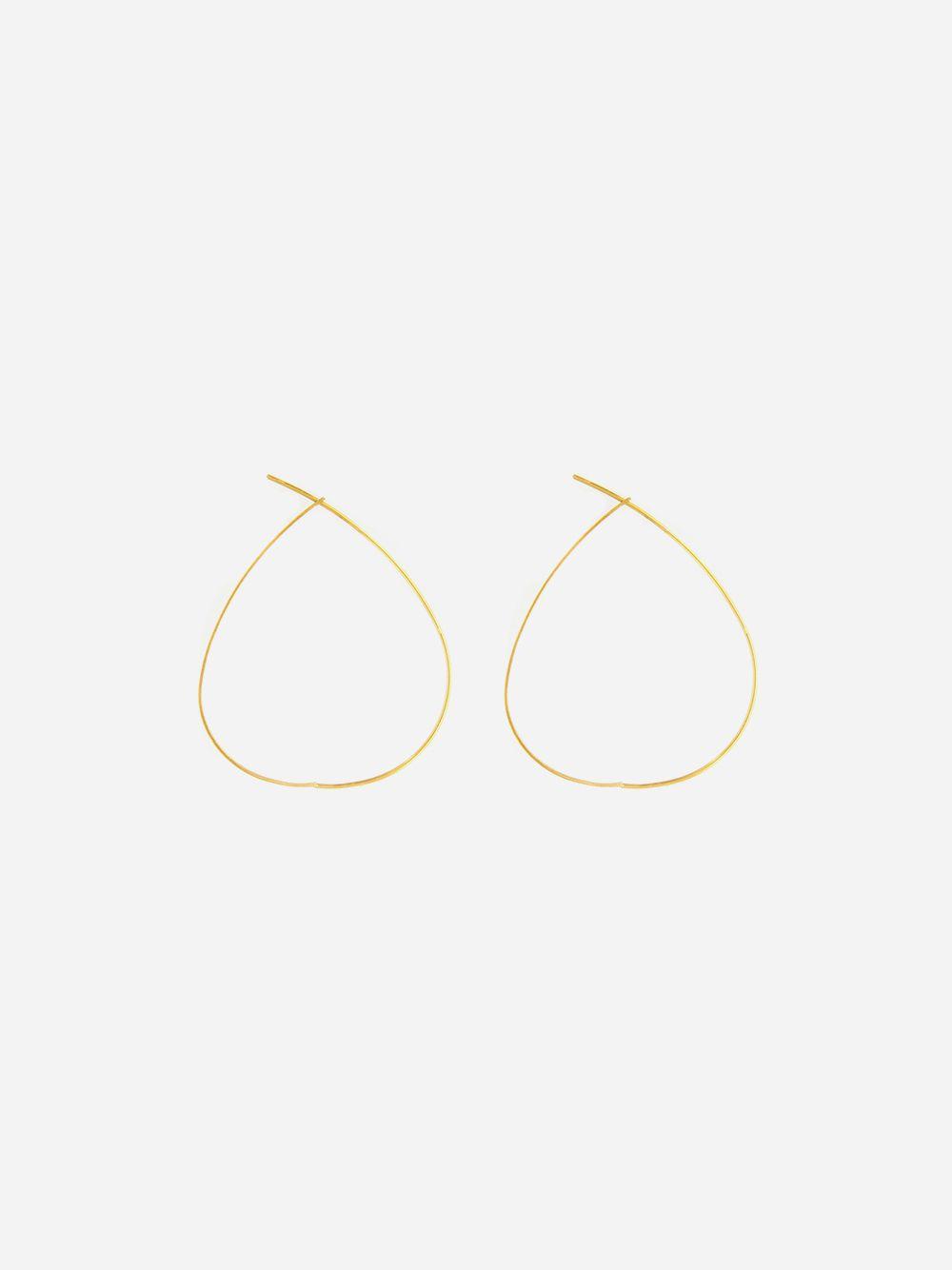 Argolas Pear Douradas