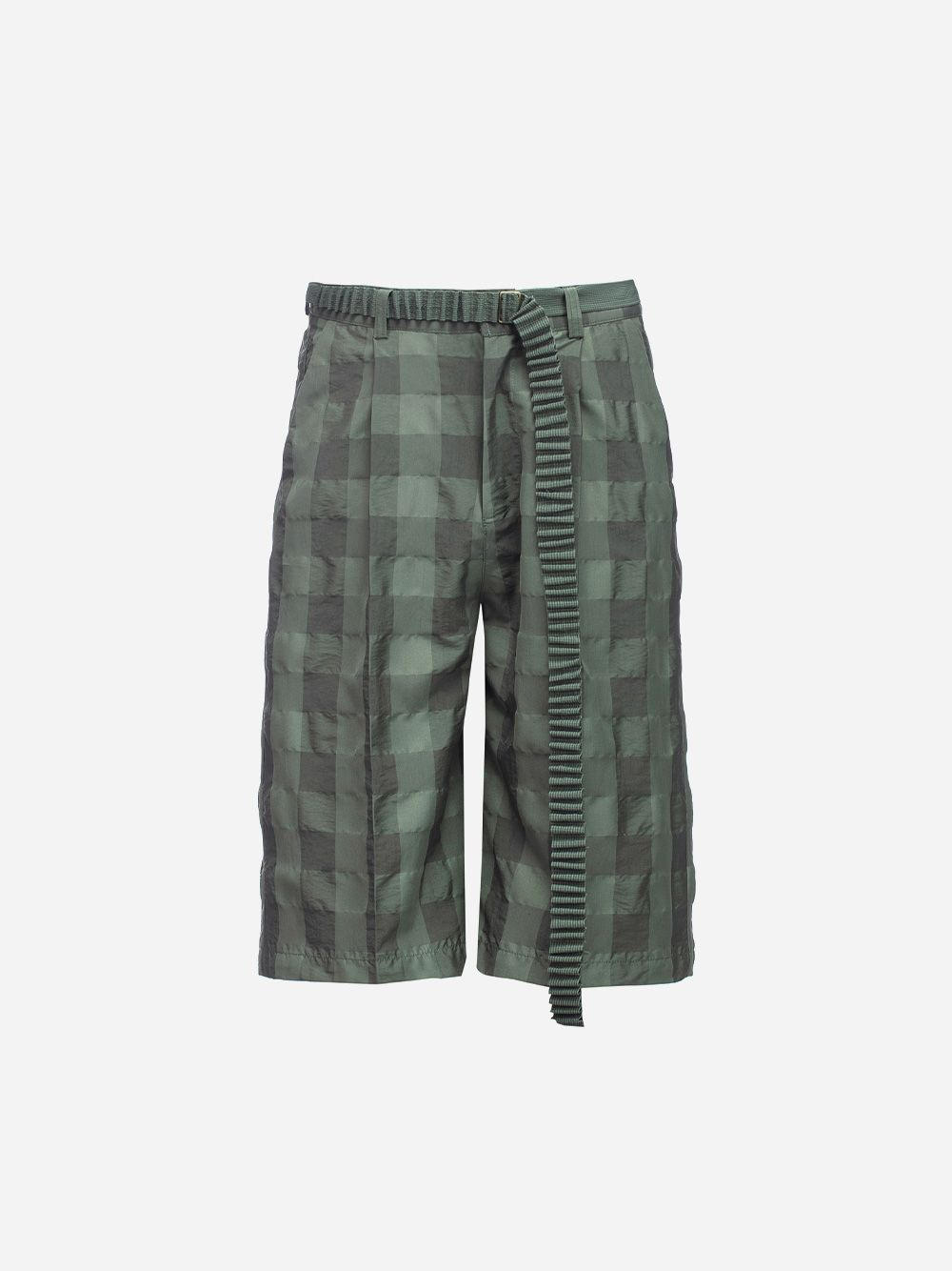 Checkered Bermuda Shorts with Belt | Rita Sá
