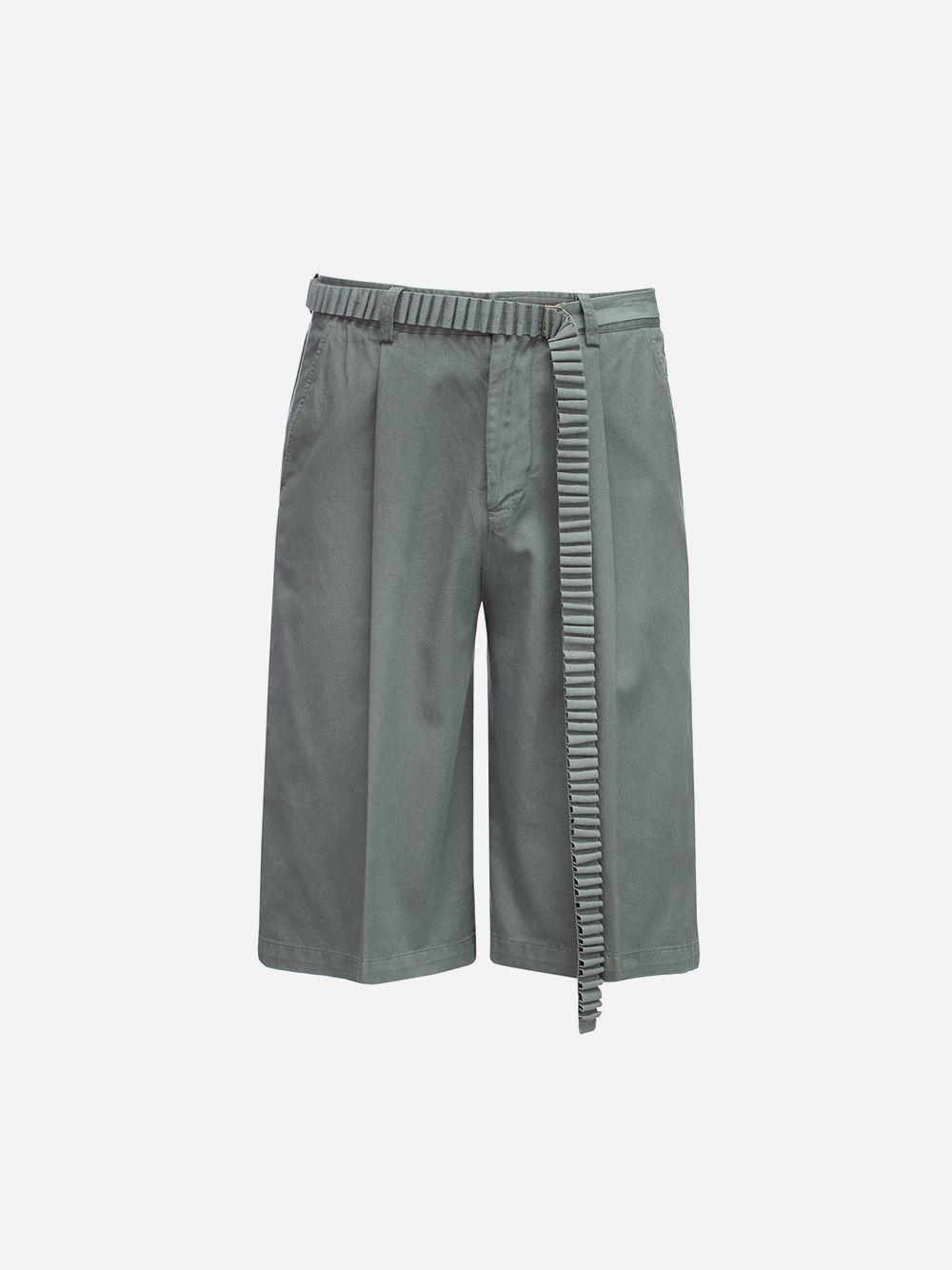 Twill Bermuda Shorts with Belt | Rita Sá