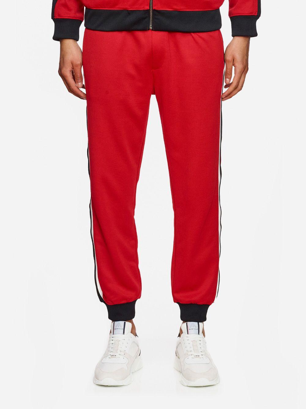 Calças Vermelhas Riscas   AMBITIOUS