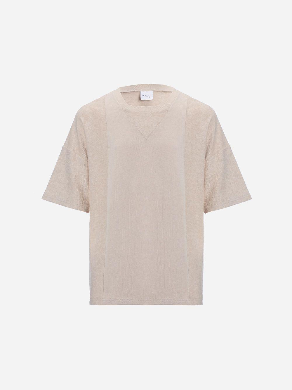 T-Shirt Encaixes Contraste Direito-Avesso | Rita Sá