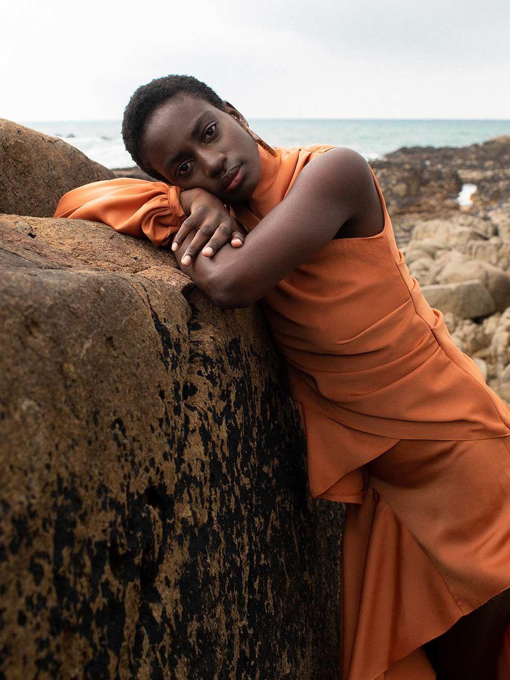 Orange Clay Skirt | Carolina Machado
