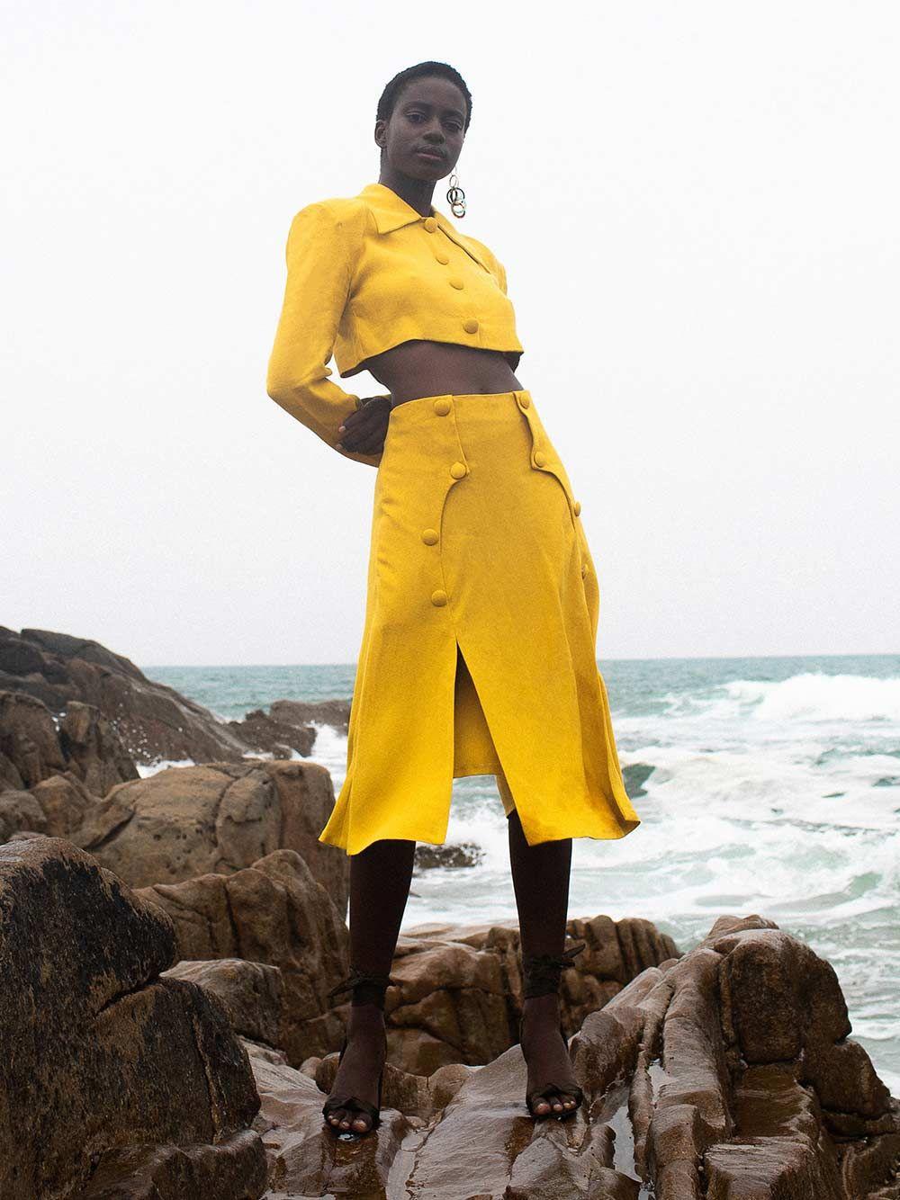 Yellow Girassol Skirt | Carolina Machado