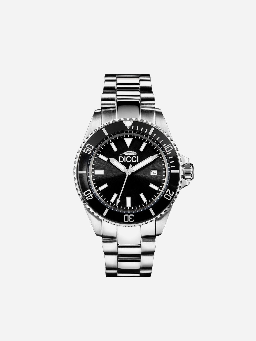 Silver Watch Classic Black | Dicci