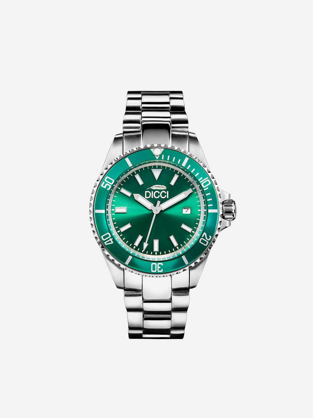 Silver Watch Classic Green | Dicci