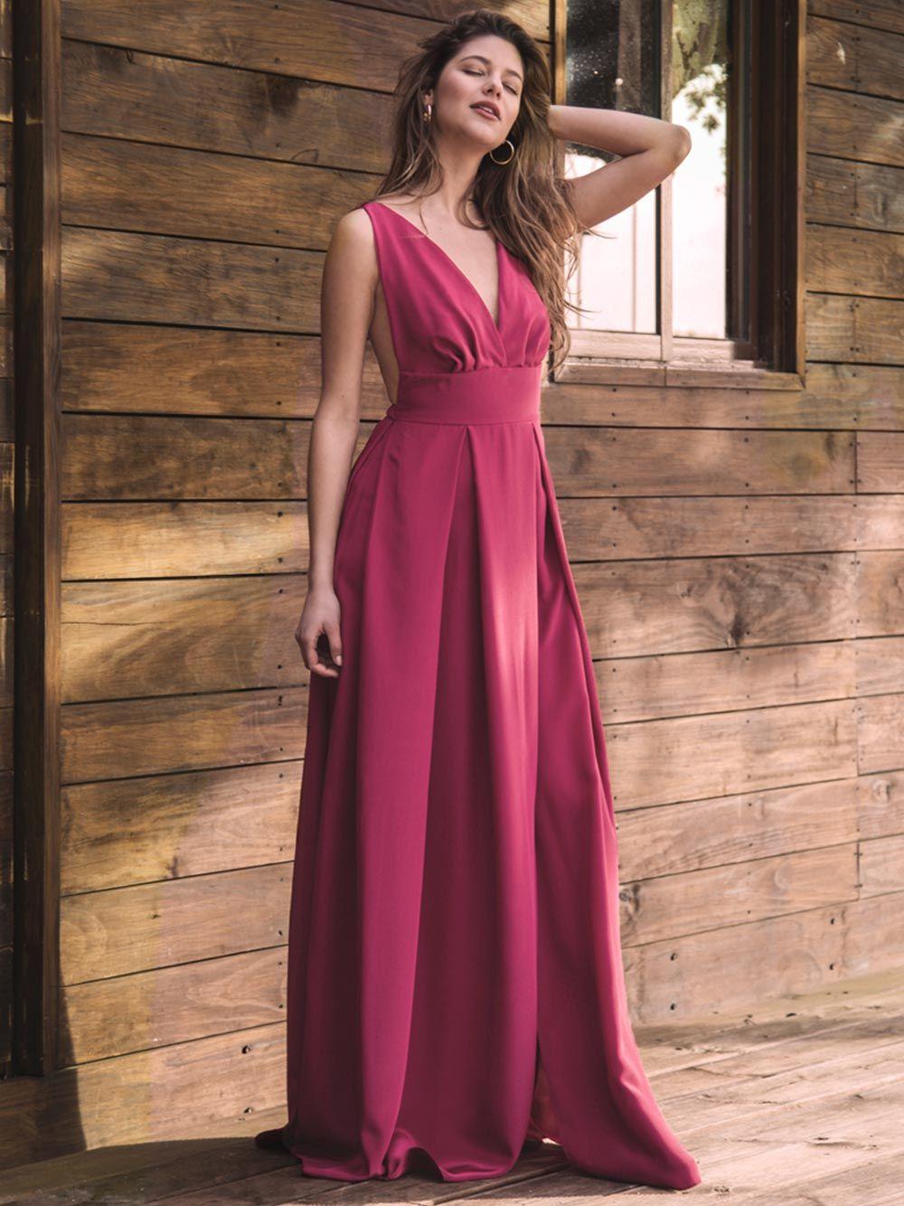 Cherry Long Dress | Mauî