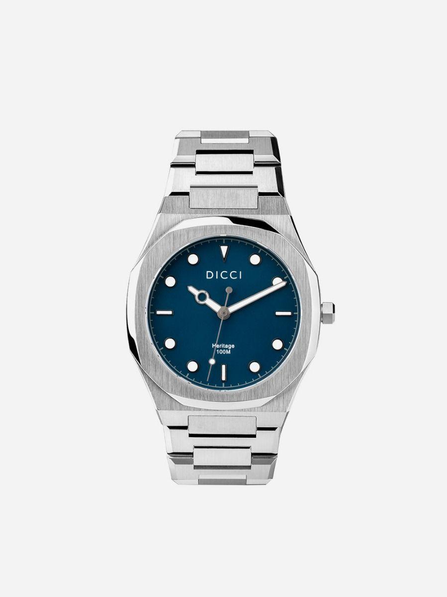 Relógio Prateado Azul Heritage | Dicci