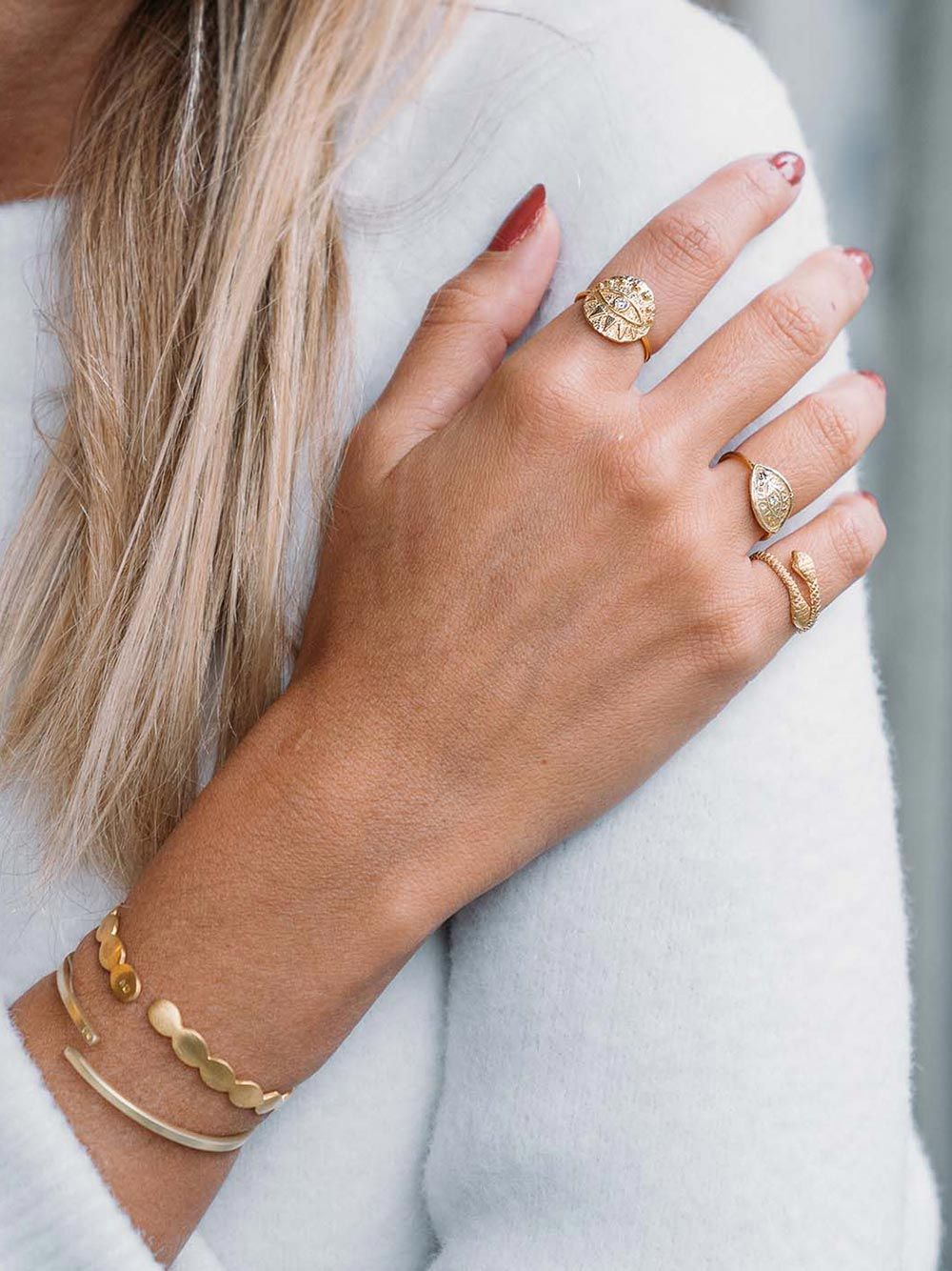 Round Eye Mini Ring | Mesh Jewellery