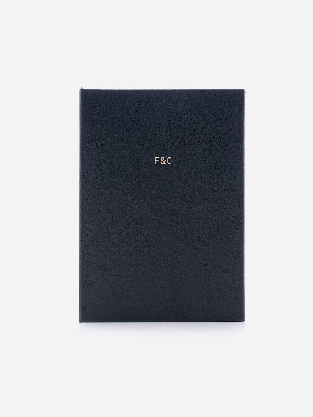Notebook preto em pele sintética preta Fine & Candy