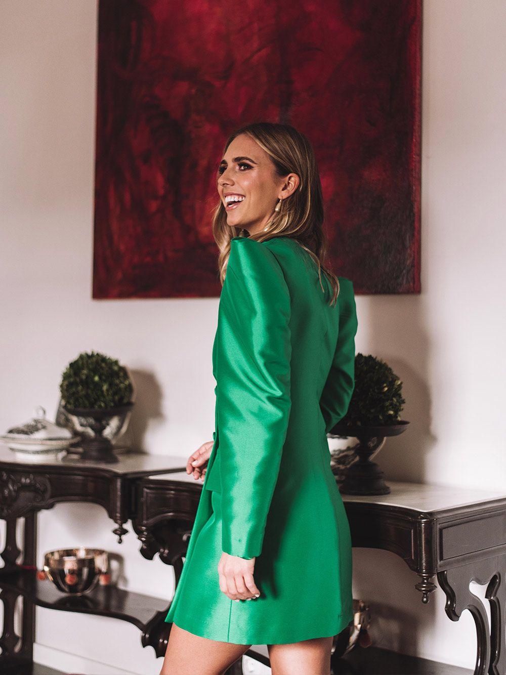Vestido Casaco Verde