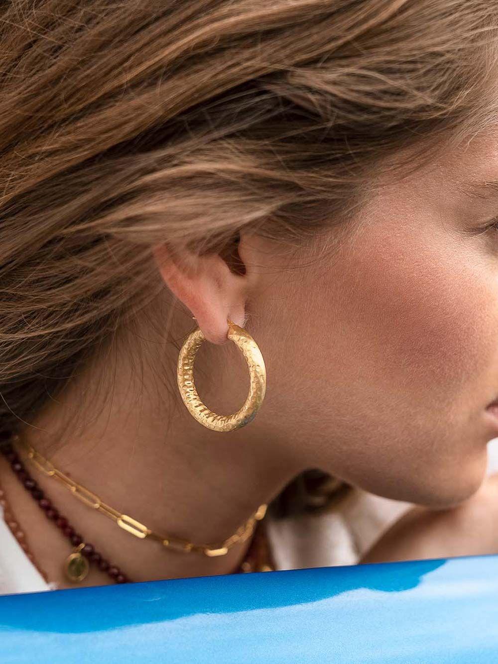 Texturized Hoops | Mesh Jewellery