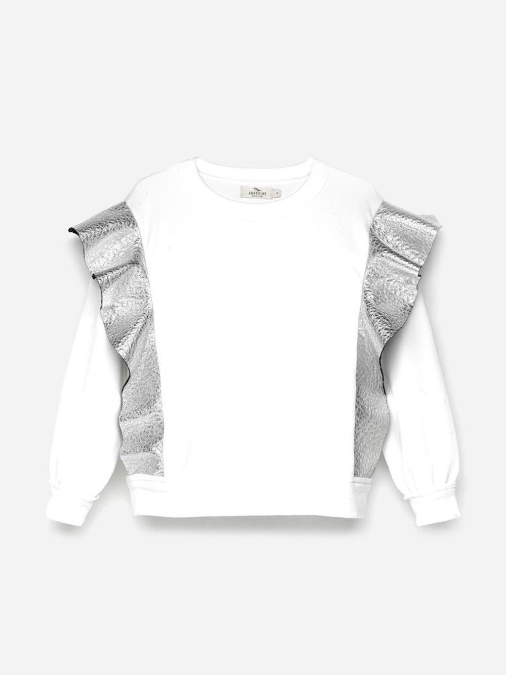 Embellished Sweatshirt White