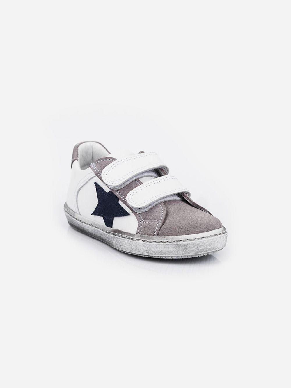 Ténis Cinza Estrela com Velcro | Pikitri