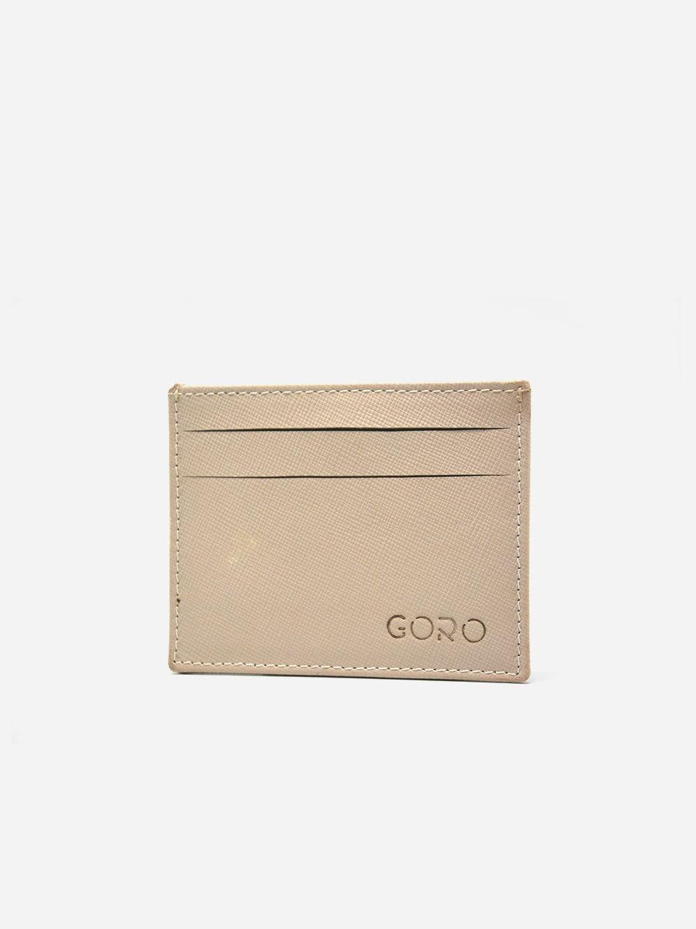Beige Card Holder Gordon | Goro