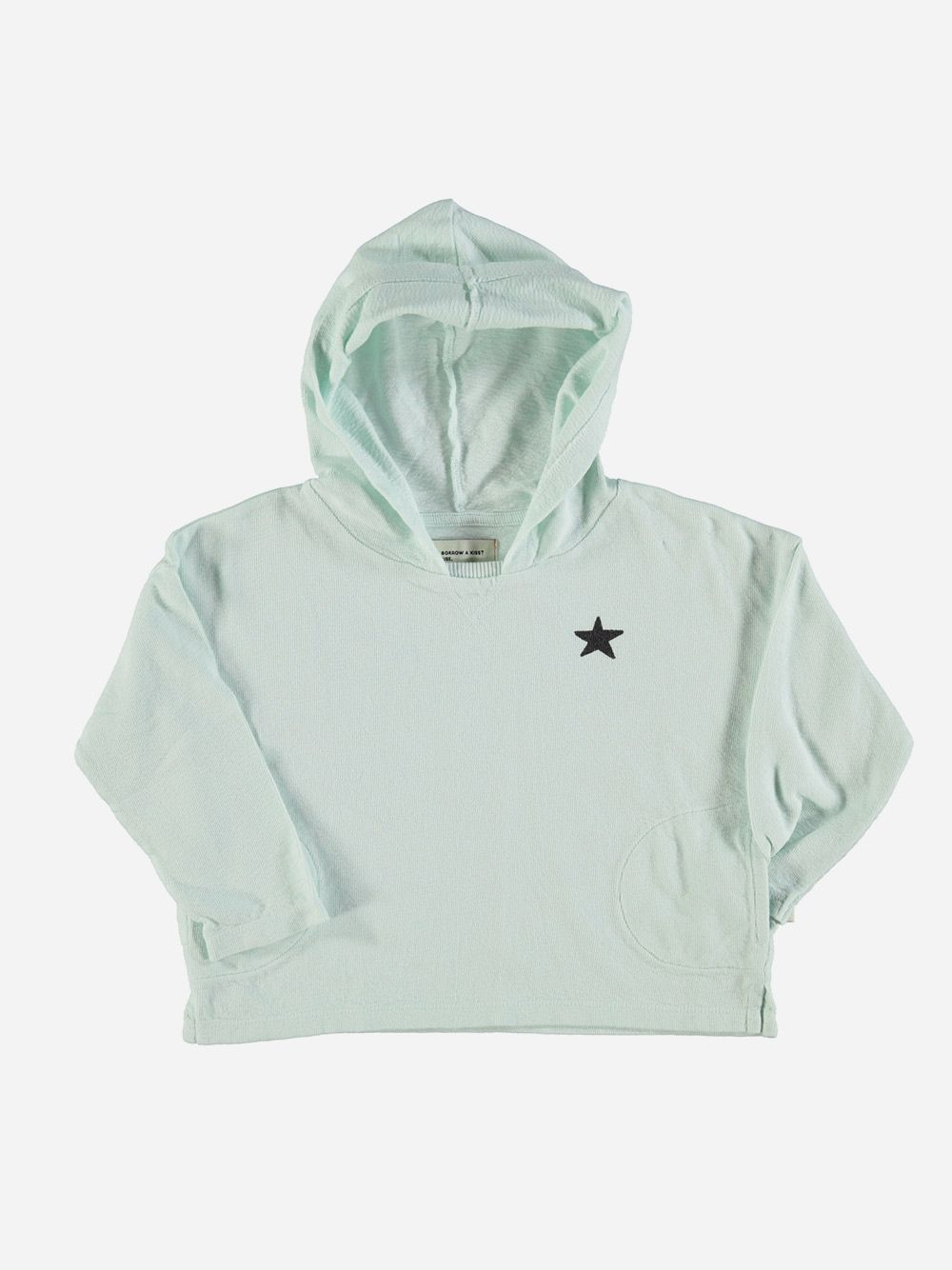 Hooded Lonsleeve with Logo Light Blue