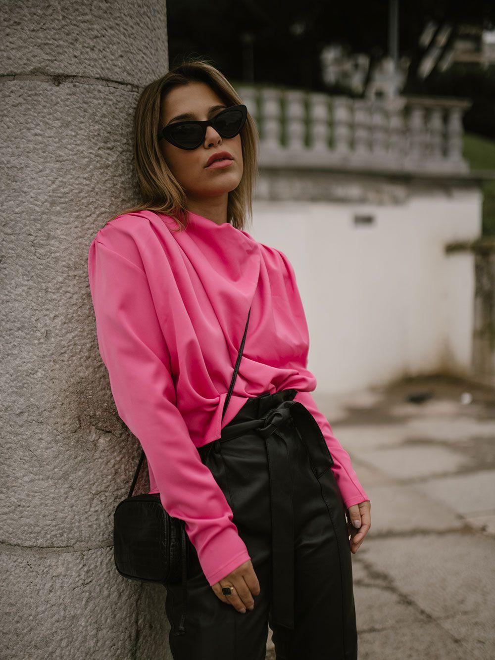Camisola Rosa com Gola