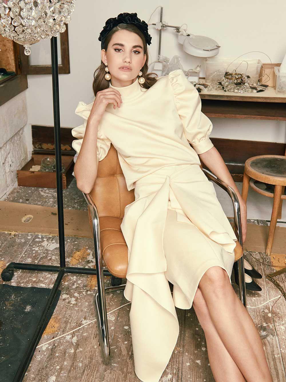 Saia Assimétrica Gioconca | Misses White