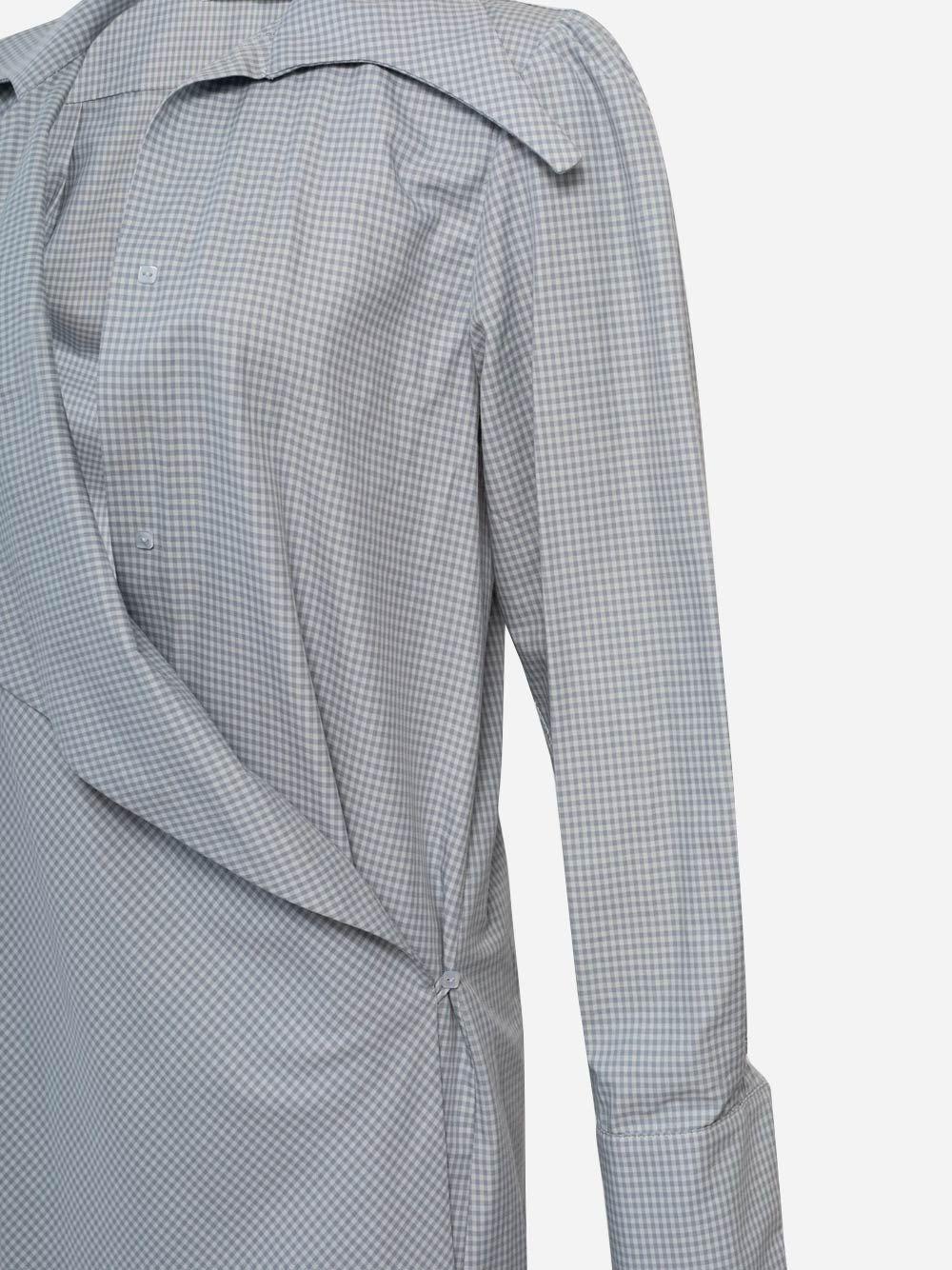 Indigo Draped Plaid Shirt
