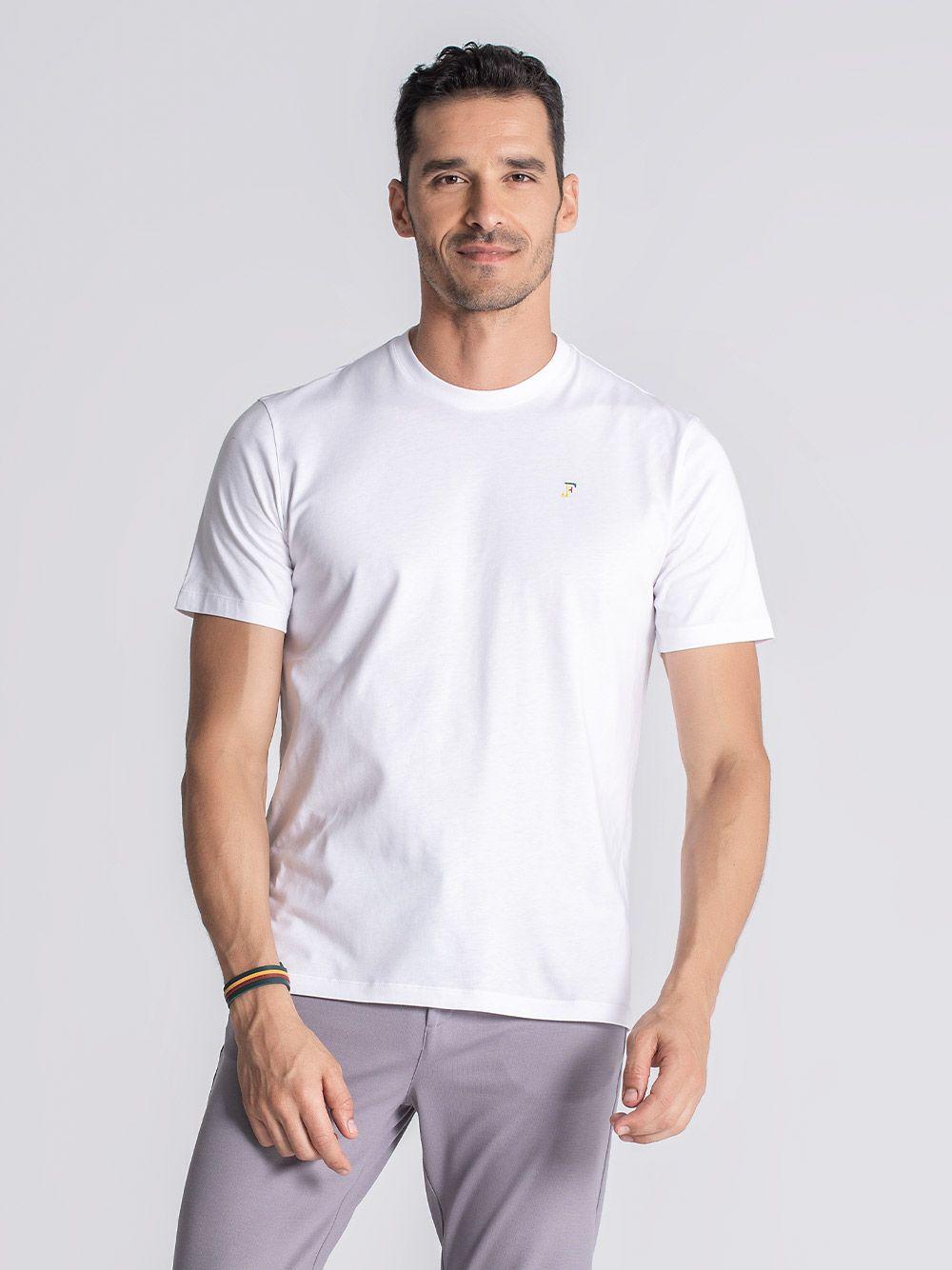 T-shirt Cataldi Branco   JEF