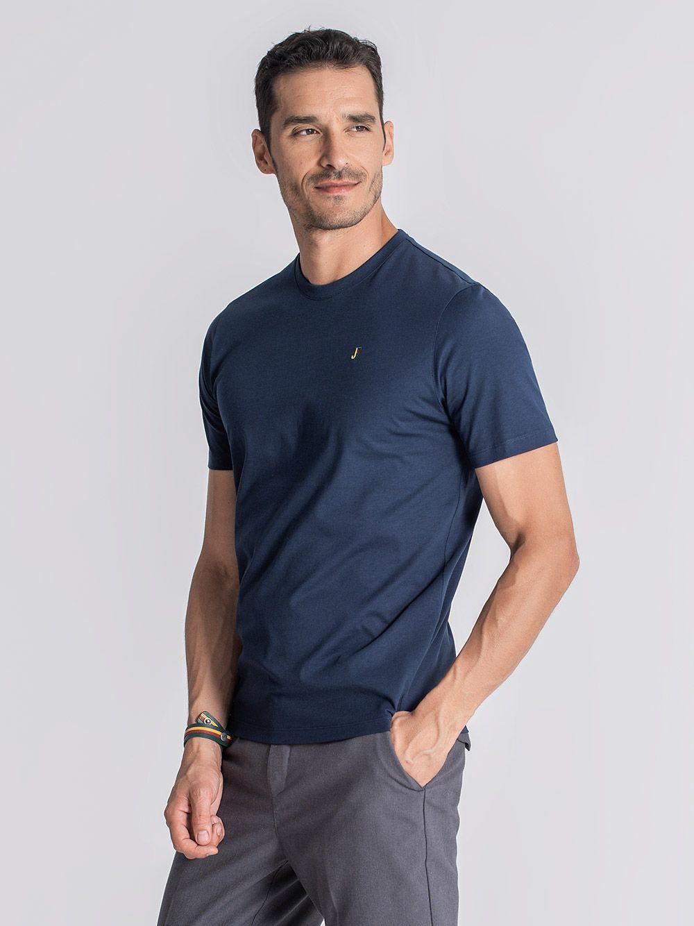 T-shirt Cataldi Azul Marinho | JEF