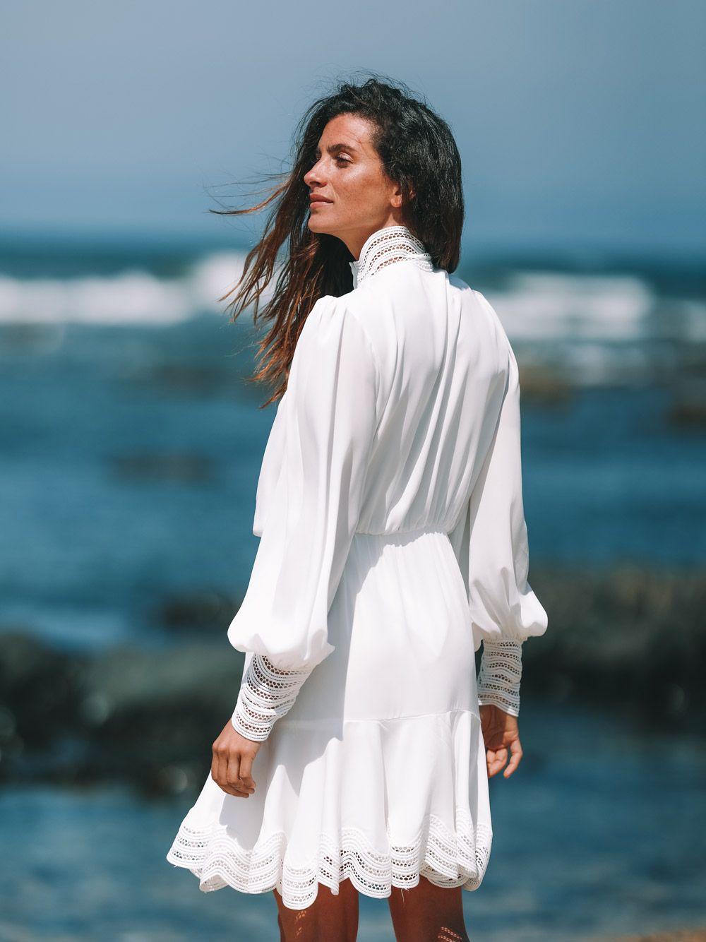 Vestido Branco com Aplicações | Kaoâ
