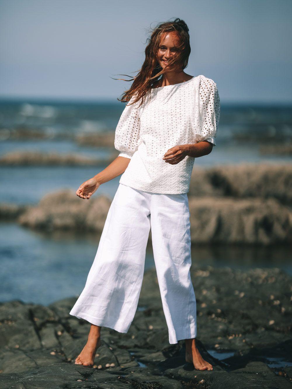 Blusa Branca Bordado Inglês | Kaoâ