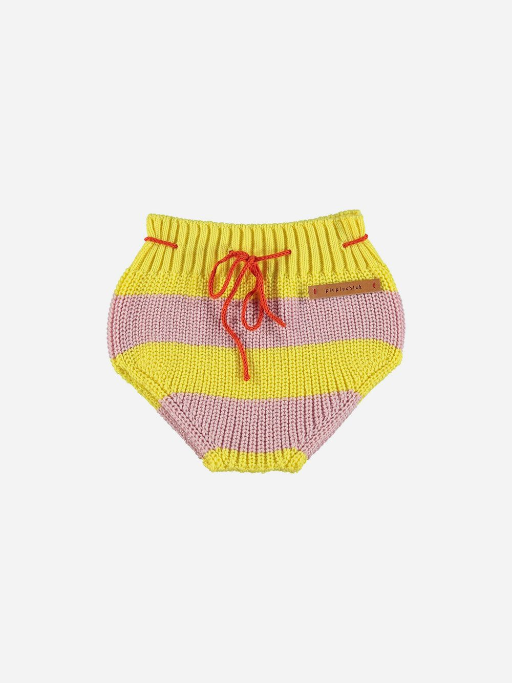 Knitted Baby Bloomer Pink & Yellow Stripes