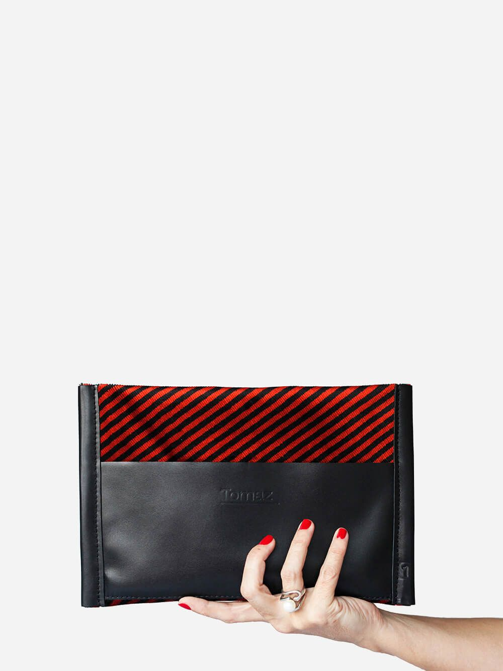 Lana Black and Red Briefcase | Tomaz