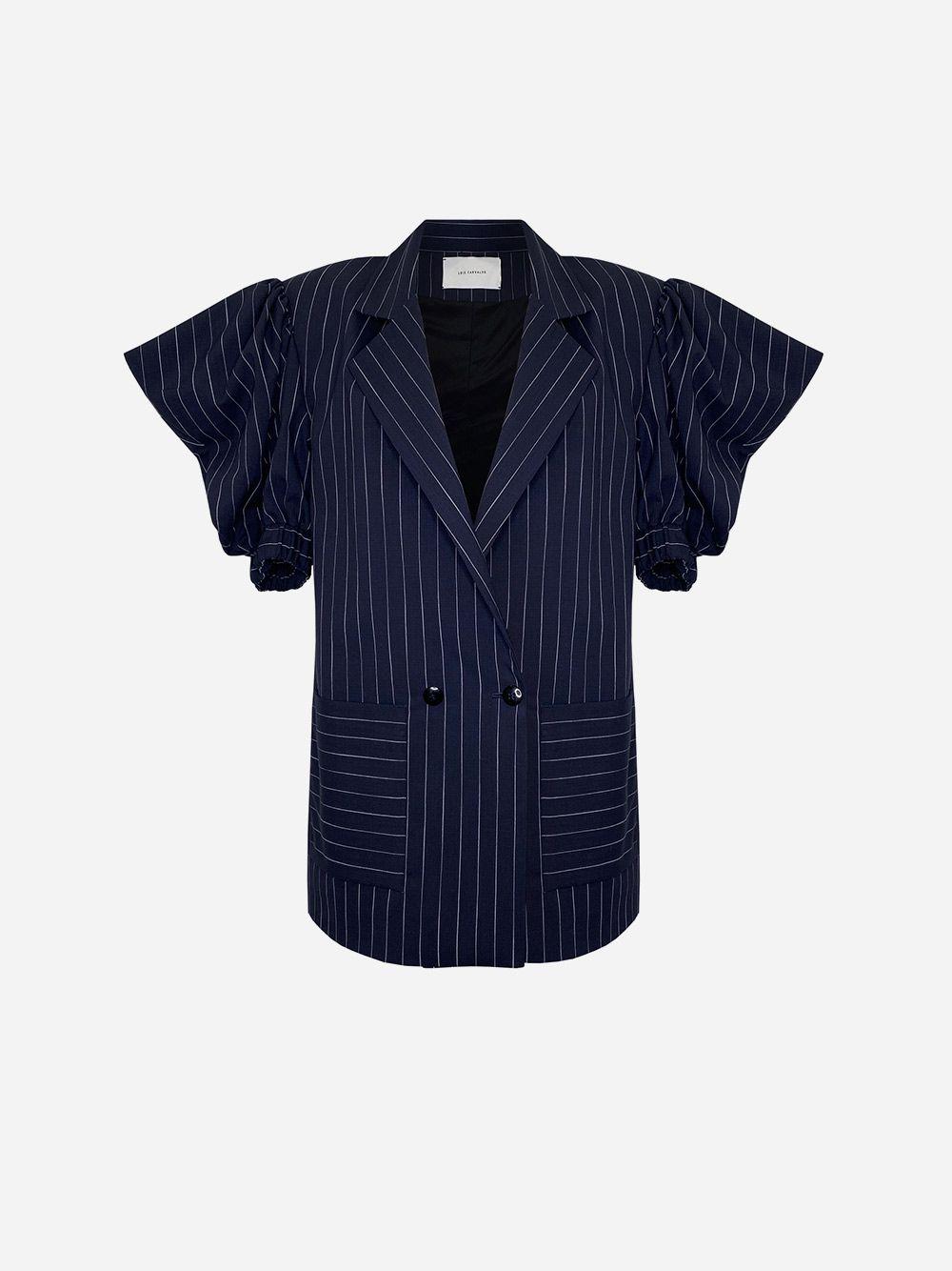 Oversize Blazer with Short Draped Sleeves