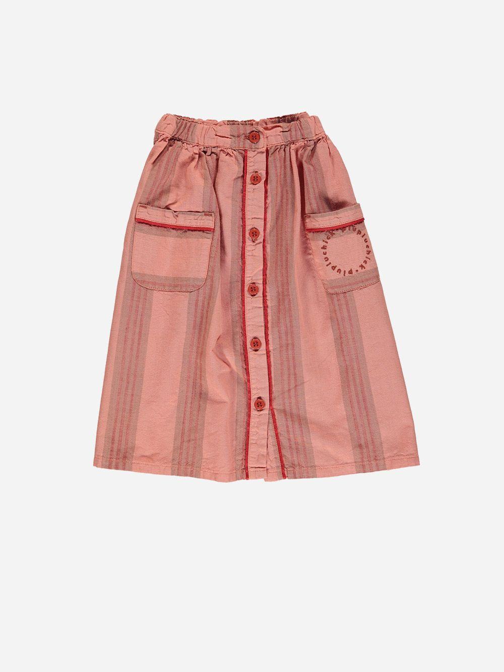 Long Skirt Pink & Multicolor Stripes