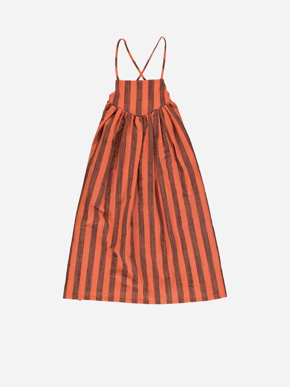Long Dress Orange with Stripes