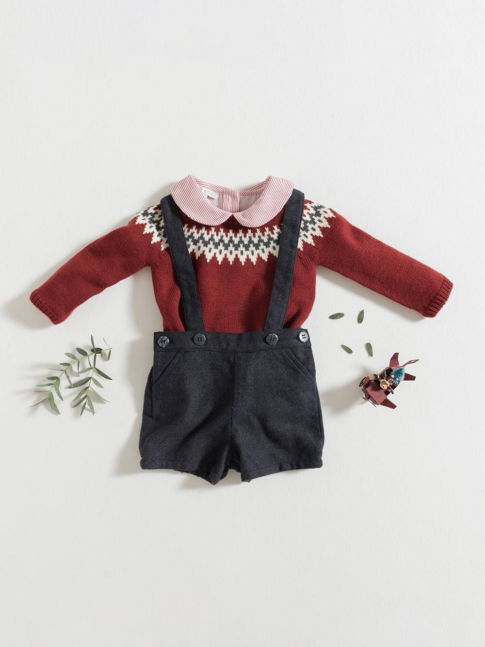 SWEATER / BURGUNDY-ASH-ECRU | Grace Baby and Child