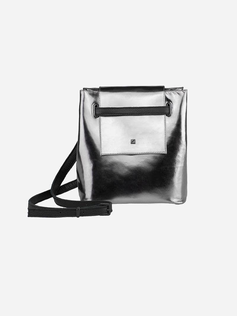 Metallic Mini Bucket Bag | Maria Maleta