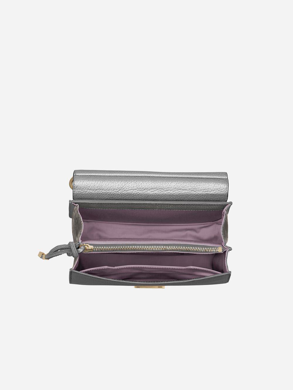 Marlene Silver Briefcase Mini Tablet | Maison Héroïne