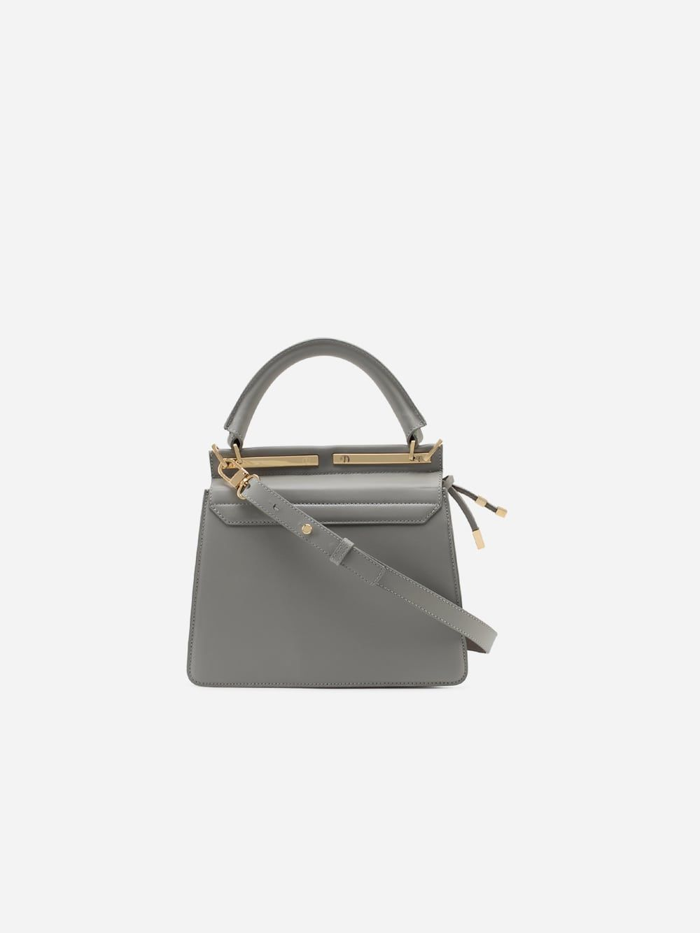 Marlene Grey Briefcase Mini Tablet   Maison Héroïne