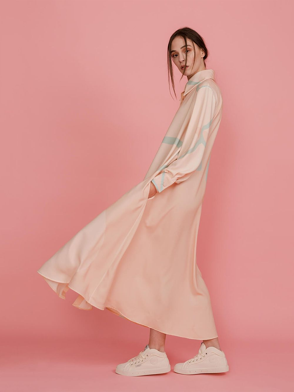 Vestido Camiseiro Peach Pearl