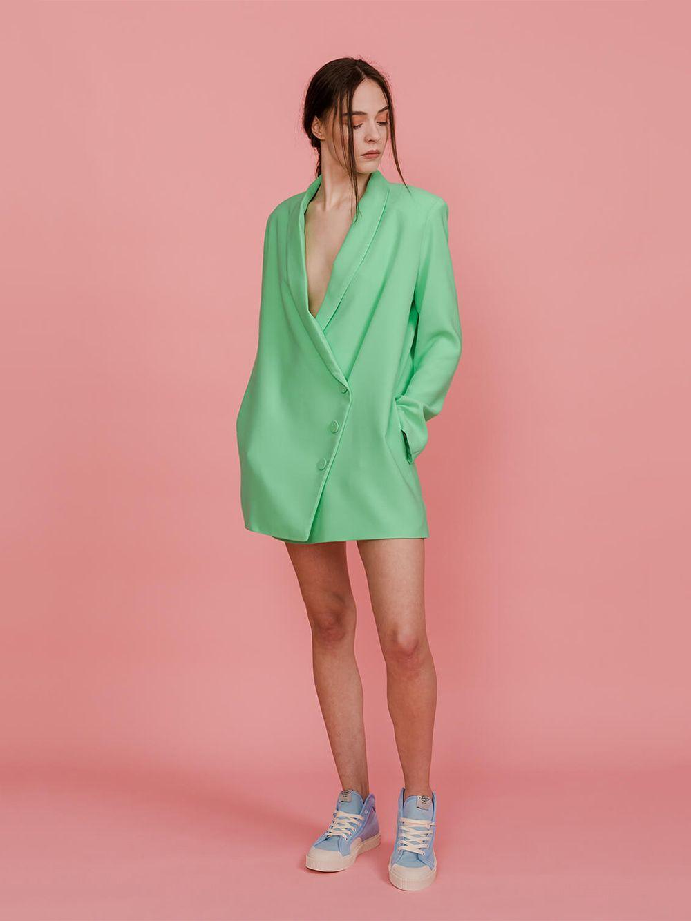 Vestido Blazer Lime Punch