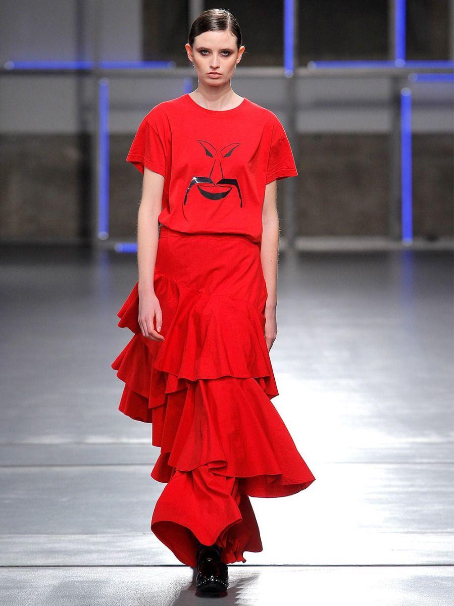T-shirt Vermelha Estampada | Meam