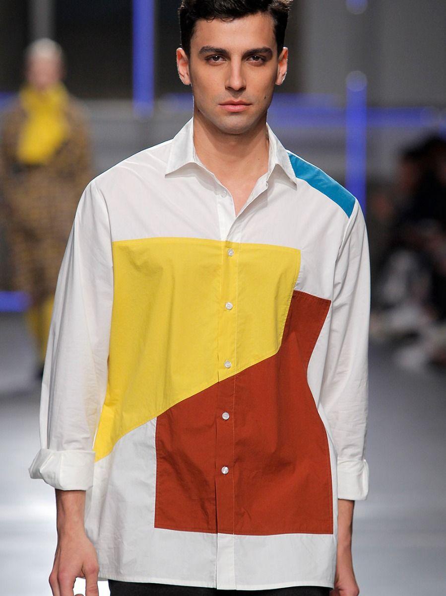 Camisa Estampado Abstrato   Meam