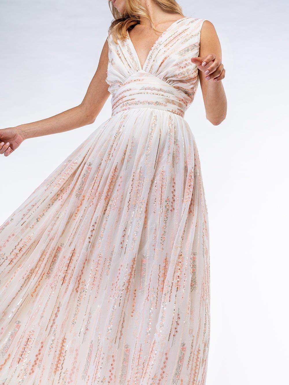 Vestido Rosa Detalhe Metalizado   Kaoâ