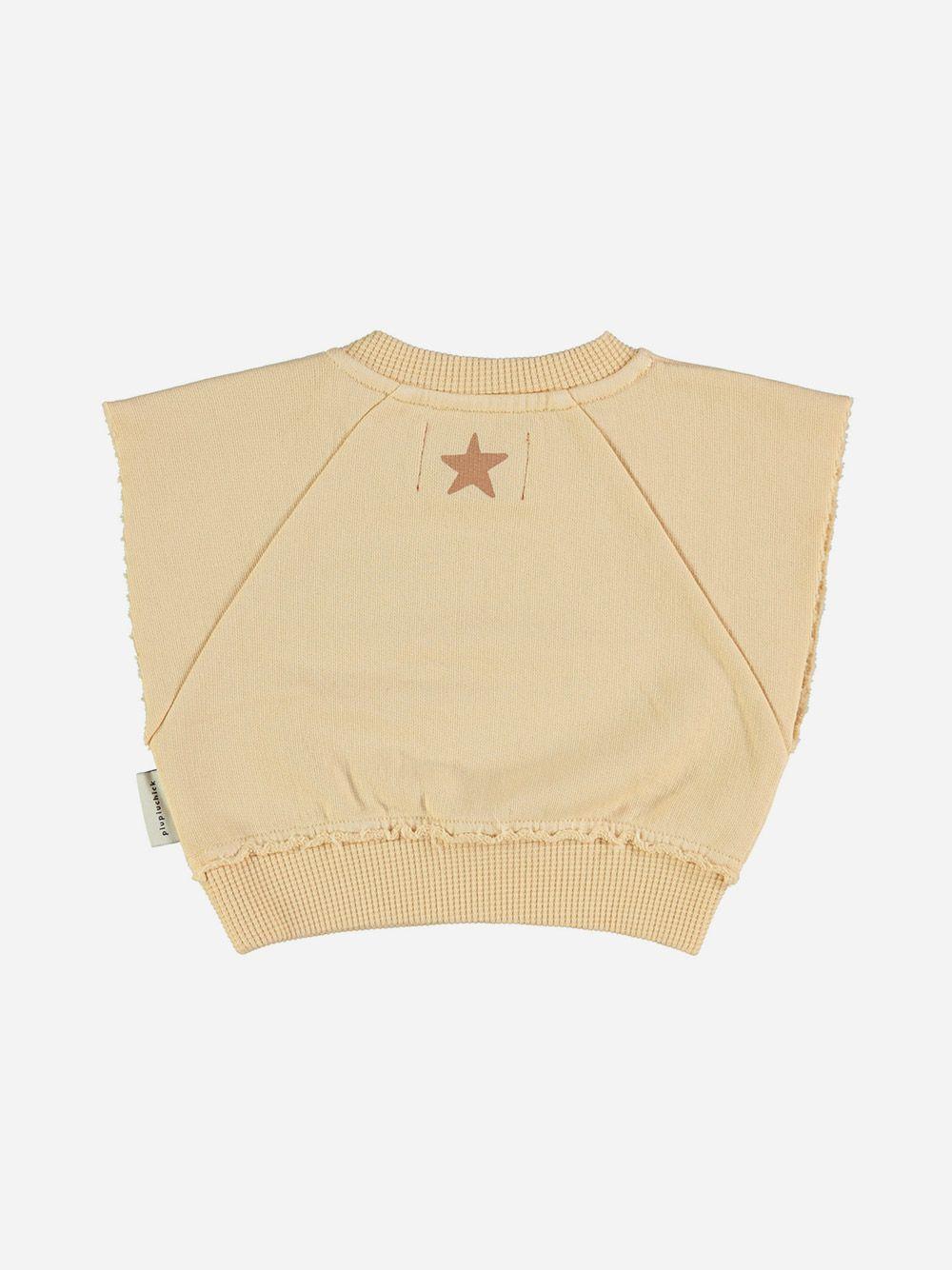 Baby Sleeveless Sweatshirt Sand