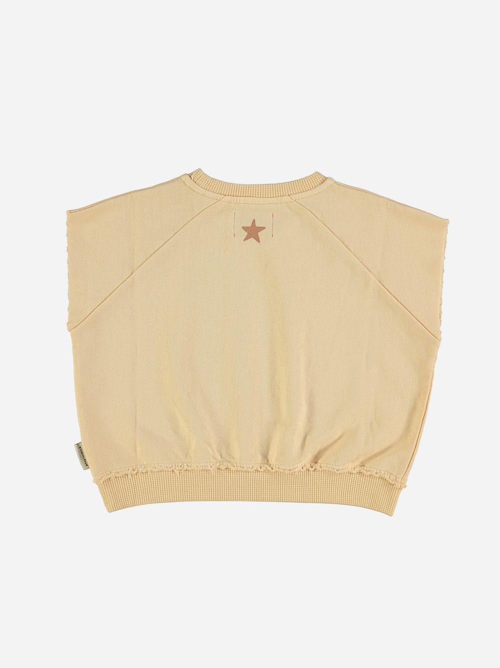 Sleeveless Sweatshirt Sand