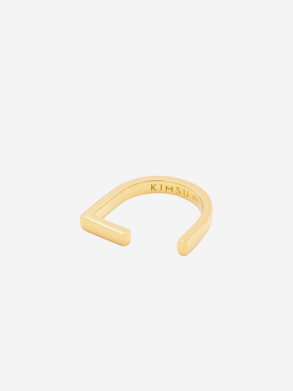 Anel Minimalista Dourado | Kimsu