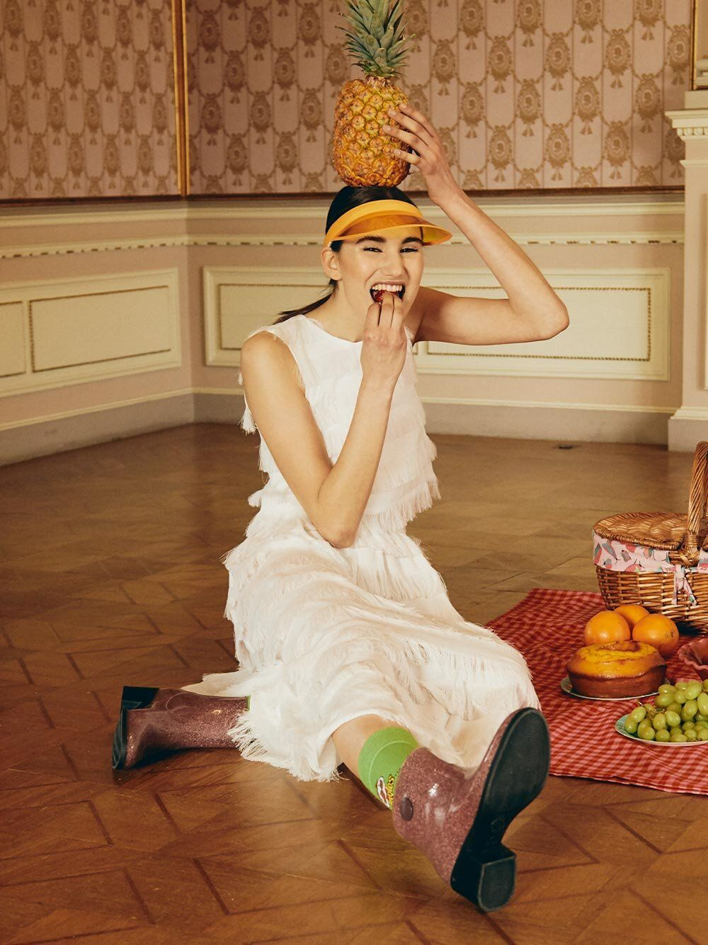 Saia com Franjas Cheerfull | Misses White