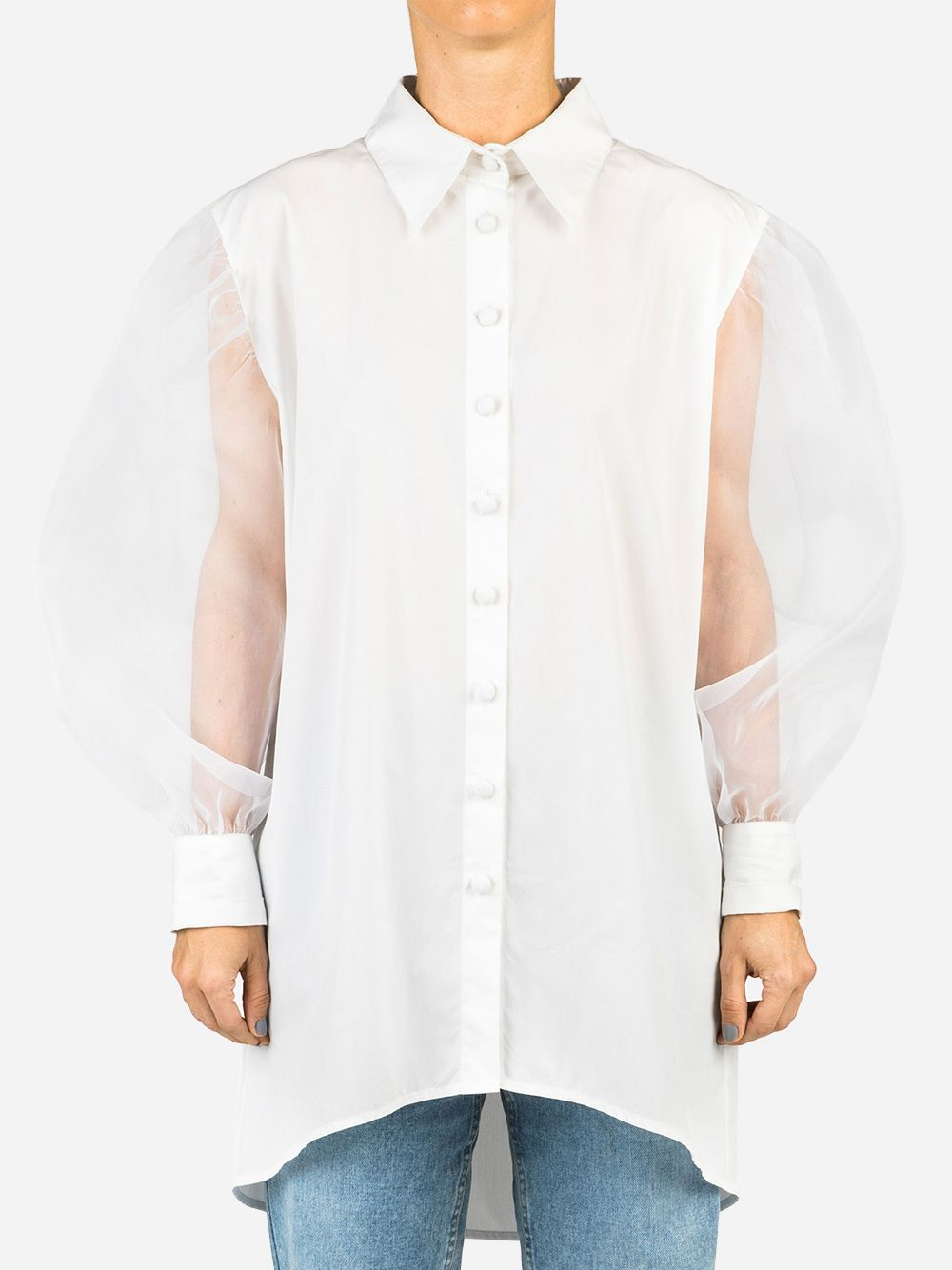 Camisa Organza Misses Daring   Misses White